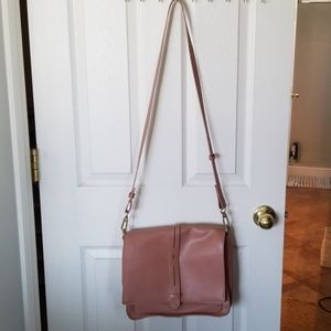 French Connection faux/vegan leather crossbody bag